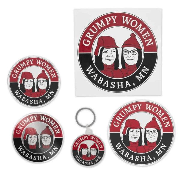 Grumpy Women Stickers, Magnets & Keychains