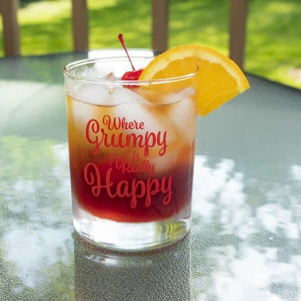 Grumpy Women 14 oz Highball Old Fashioned Cocktail Glasses