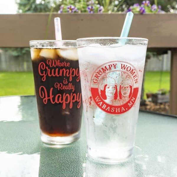 Grumpy Women 16 ounce Pint Beer Glass